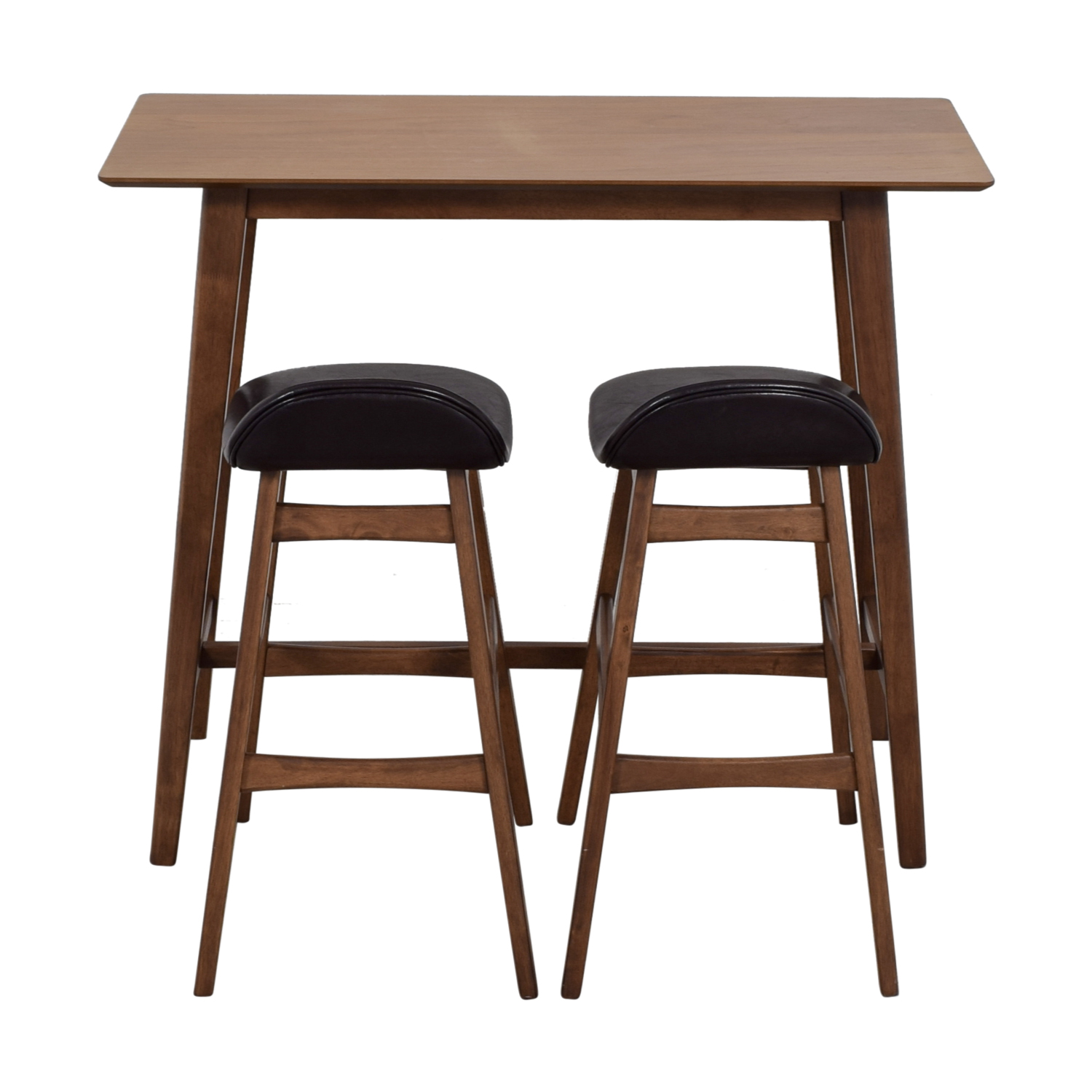 Wood Bar Table and Stools Set second hand