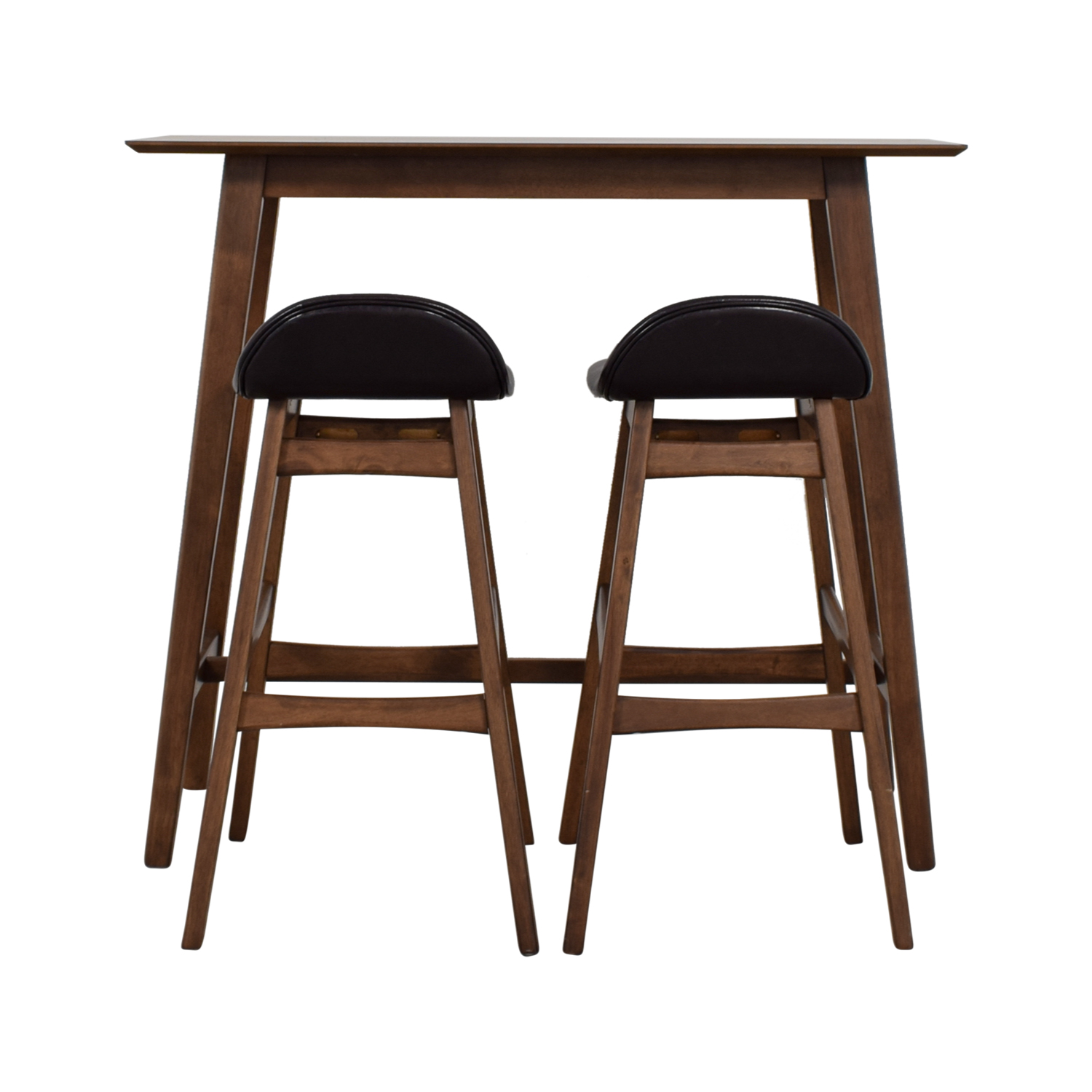 Wood Bar Table and Stools Set sale