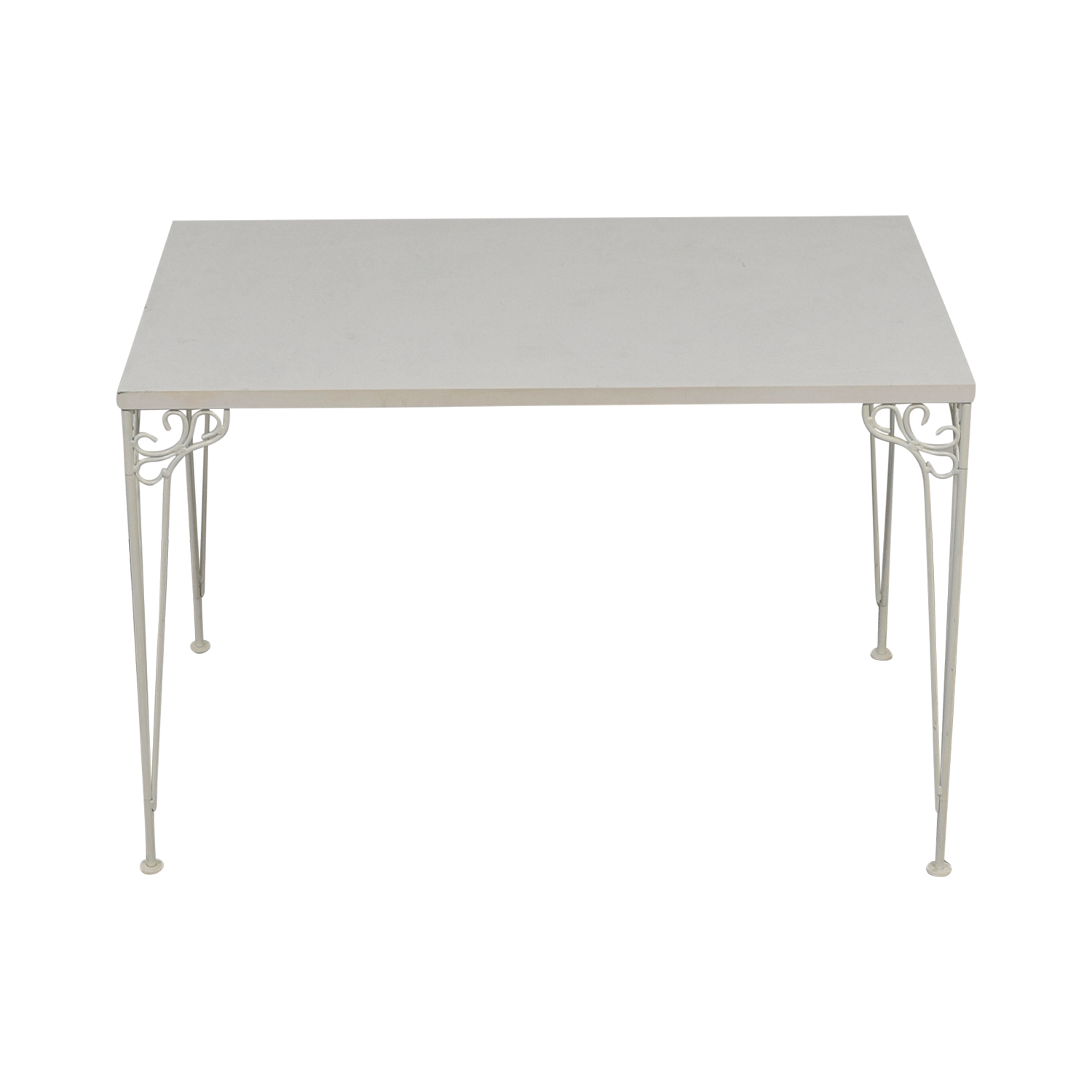 IKEA IKEA White Filigree Legged Desk discount