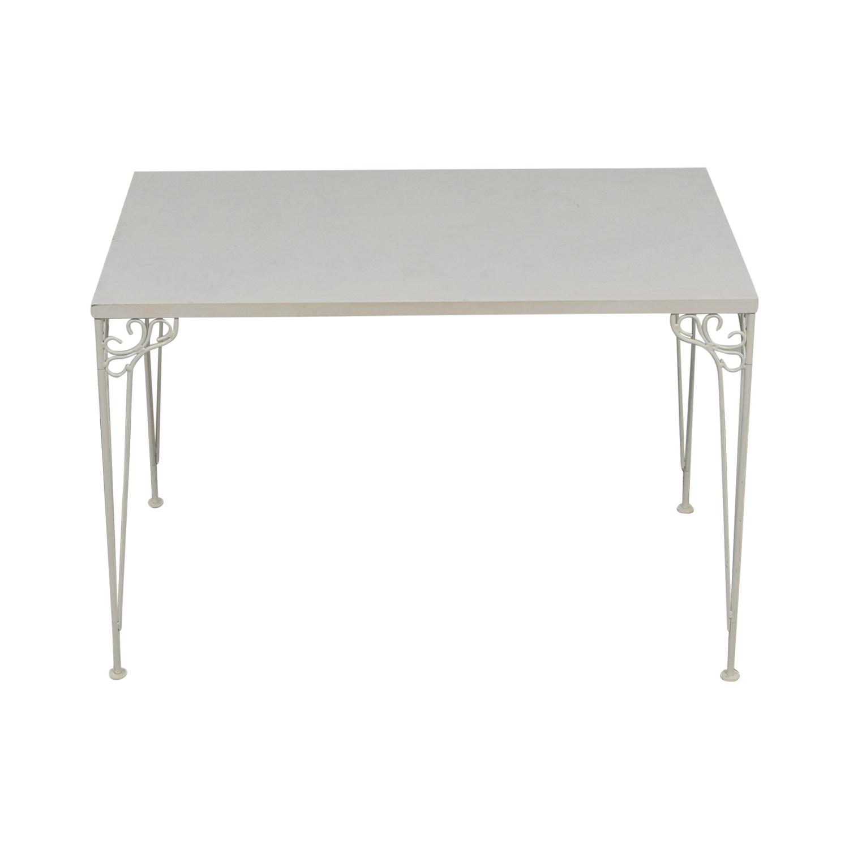 70% OFF   IKEA IKEA White Filigree Legged Desk / Tables