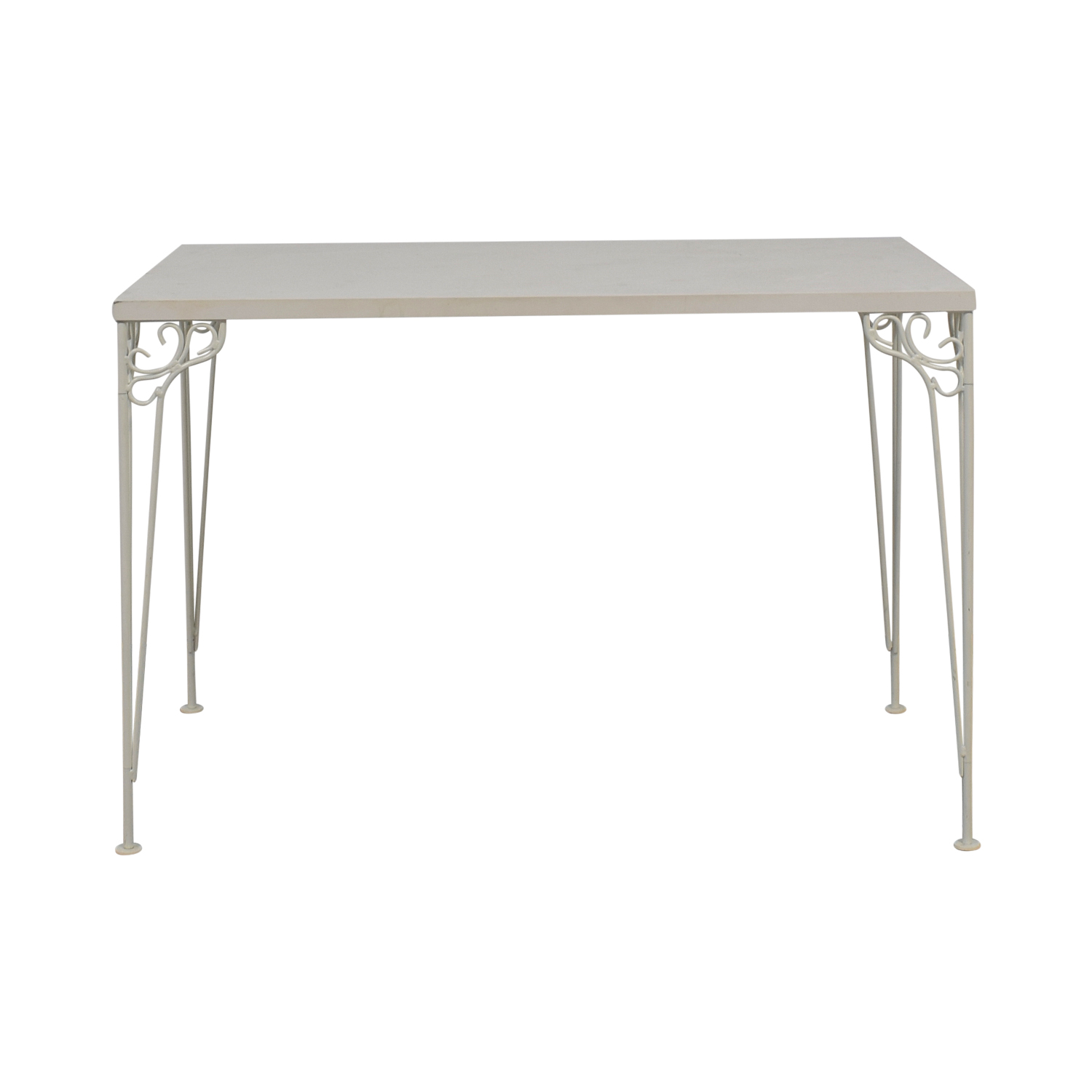 IKEA IKEA White Filigree Legged Desk nj