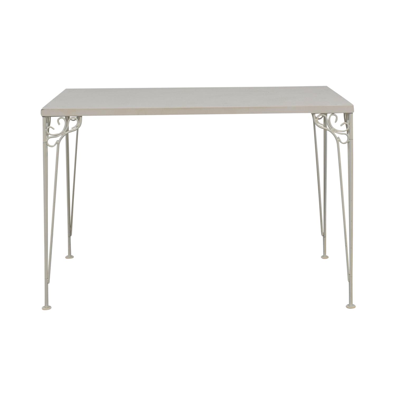 the latest 2a092 673ab 70% OFF - IKEA IKEA White Filigree Legged Desk / Tables