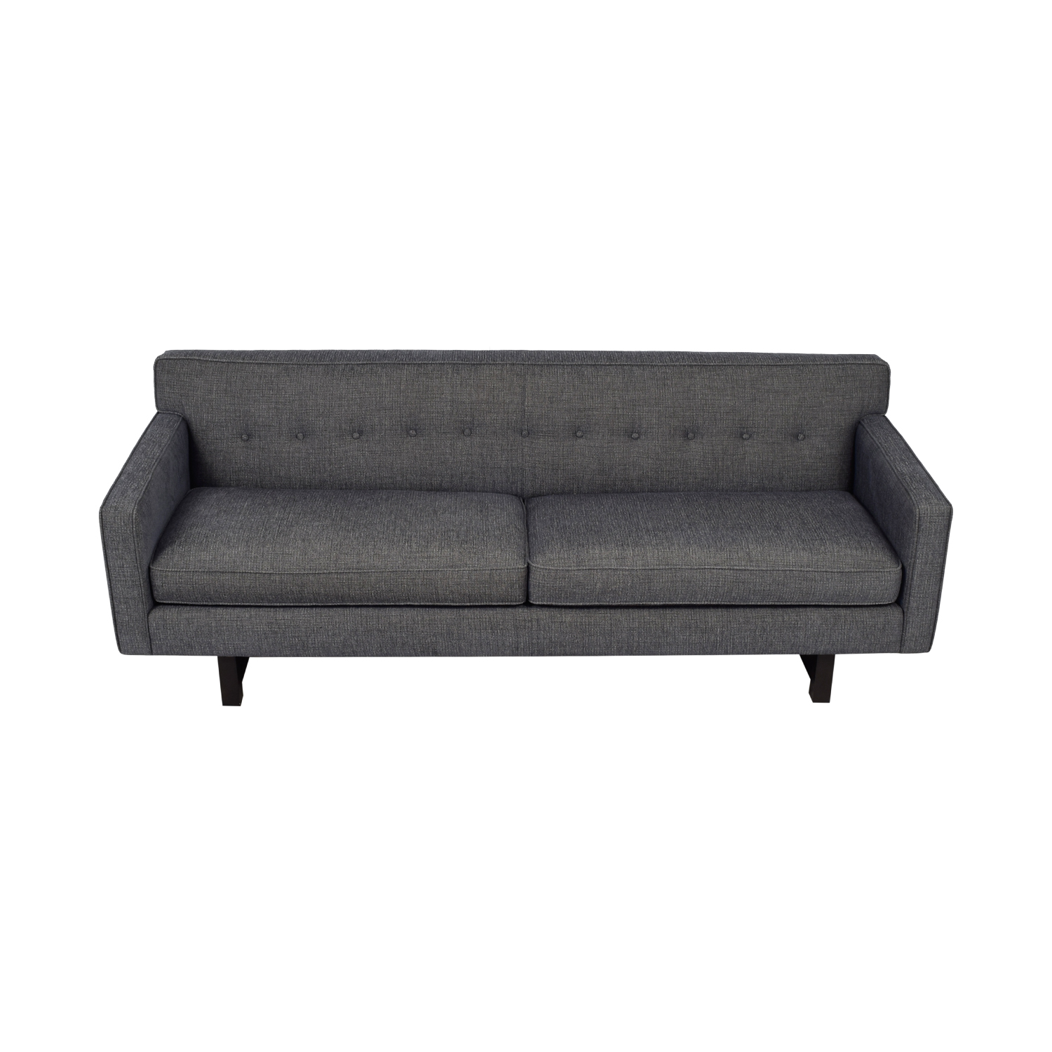 buy Room & Board Andre Grey Tufted Two-Cushion Sofa Room & Board Sofas
