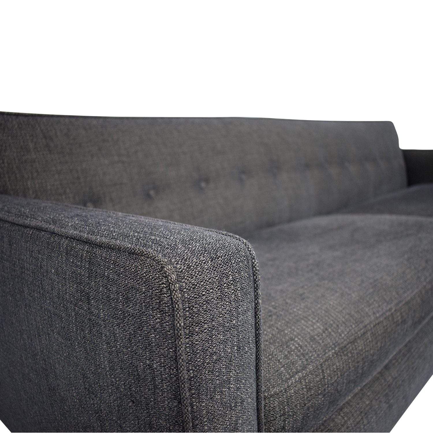 shop Room & Board Andre Grey Tufted Two-Cushion Sofa Room & Board Classic Sofas