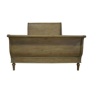 Restoration Hardware Restoration Hardware Empire Rosette Sleigh Queen Bed Frame nyc