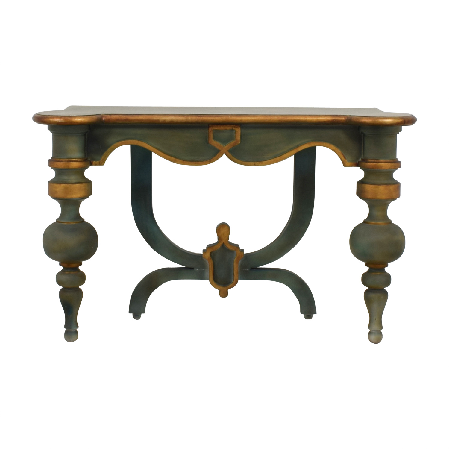 Antique Green Carved Wood Foyer Or Entry Table Console / Tables ...