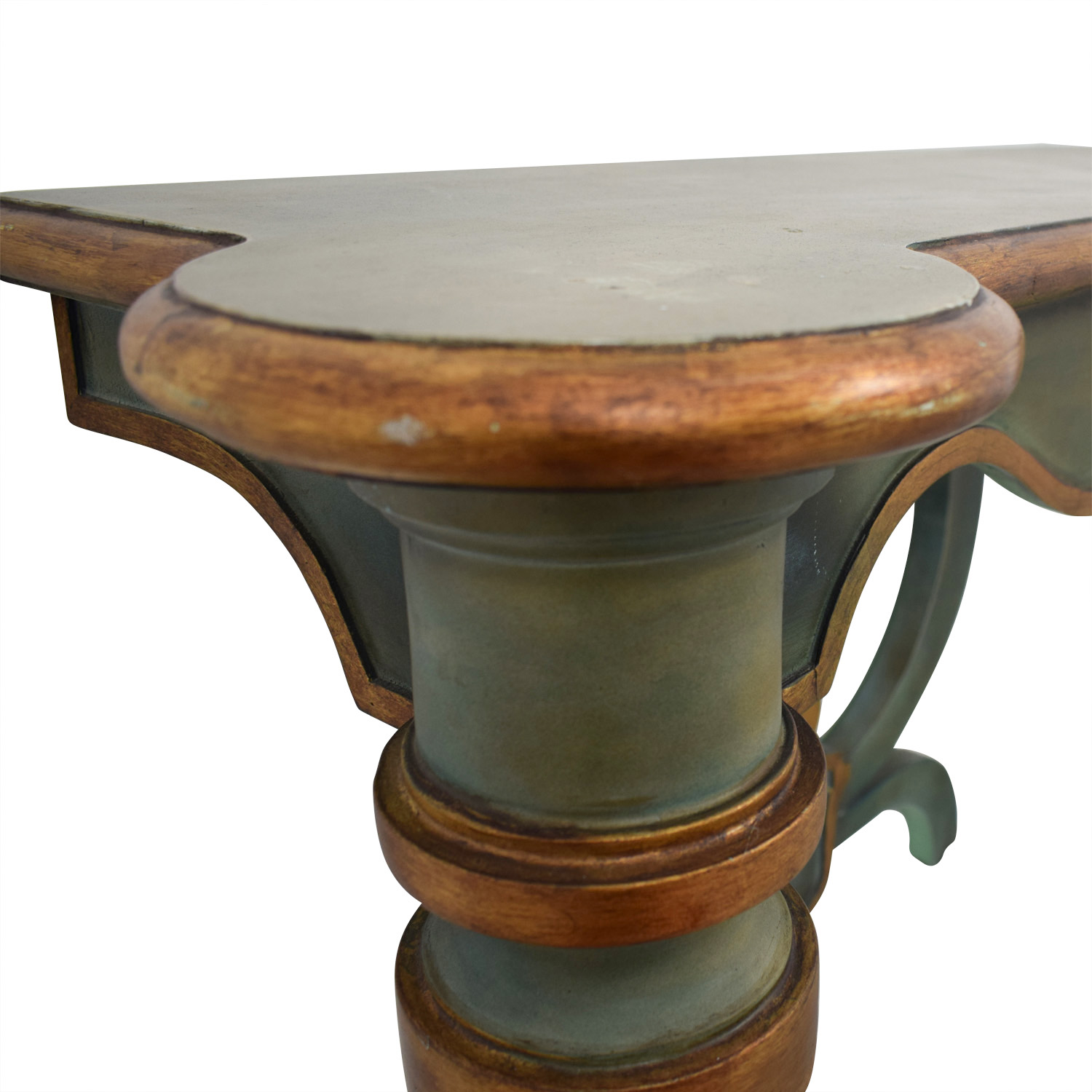 Green Foyer Table : Off antique green carved wood foyer or entry table