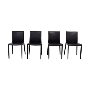 Room & Board Room & Board Enzo Black Leather Chairs