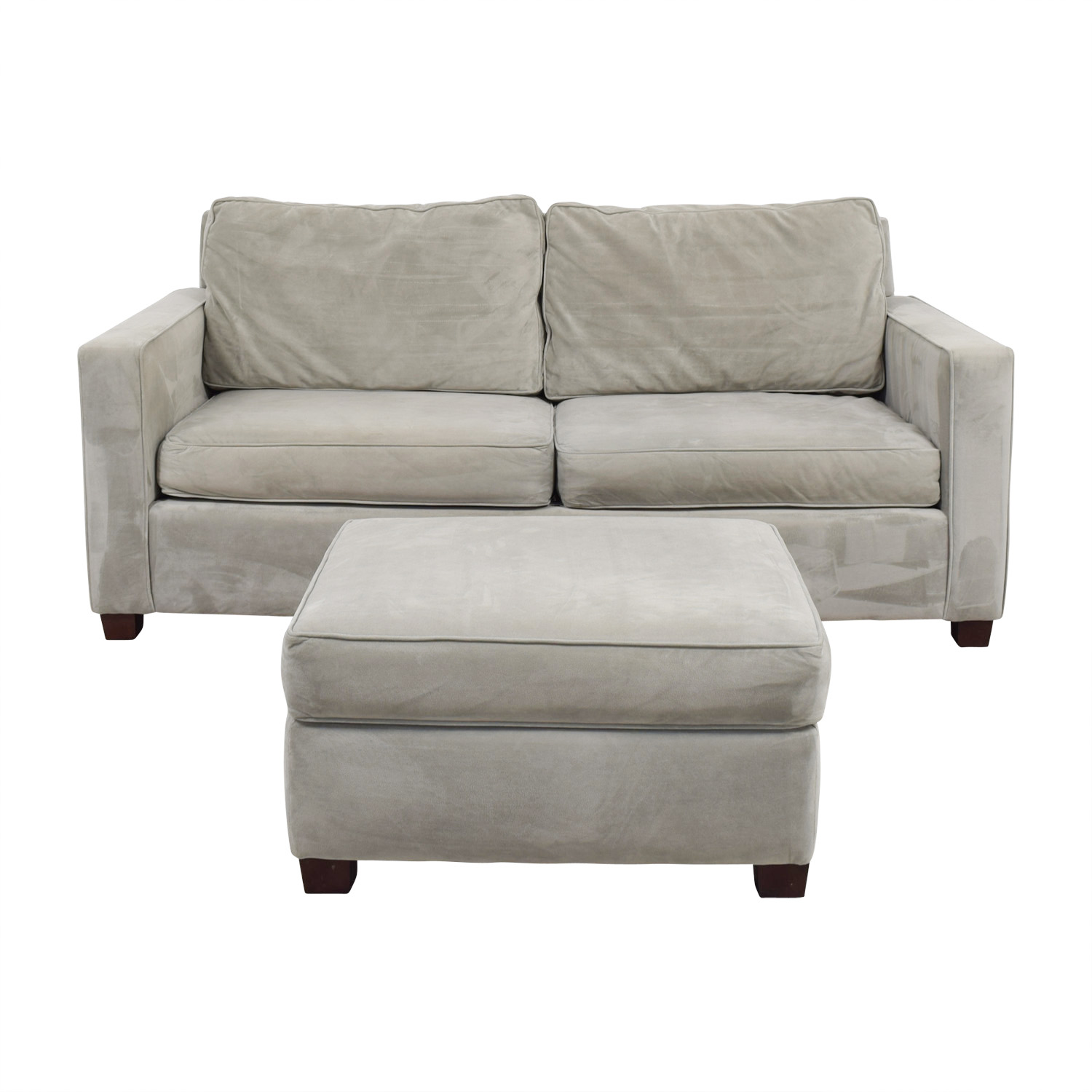 shop West Elm Gray Henry Sofa and Ottoman West Elm Classic Sofas