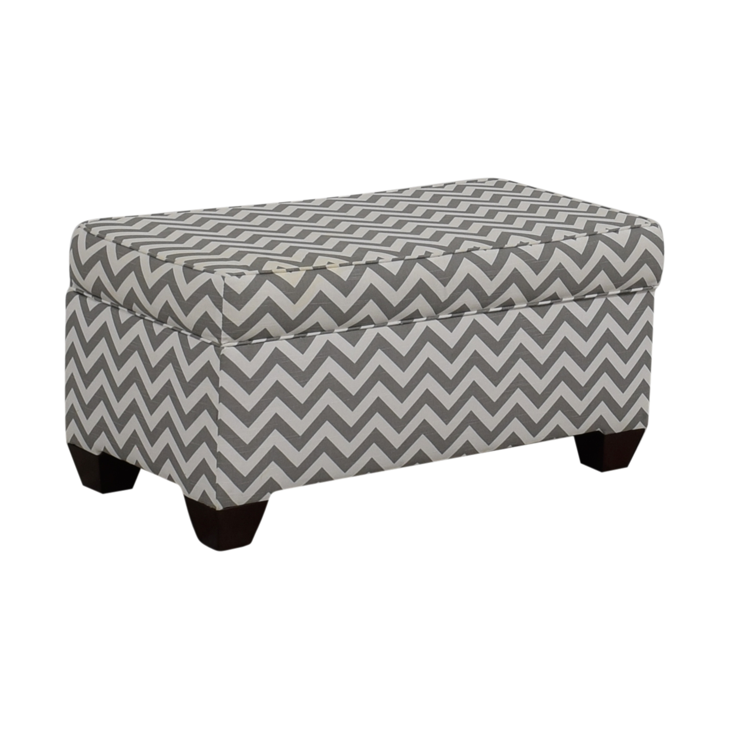 shop Target Grey and White Storage Bench or Ottoman Target Ottomans