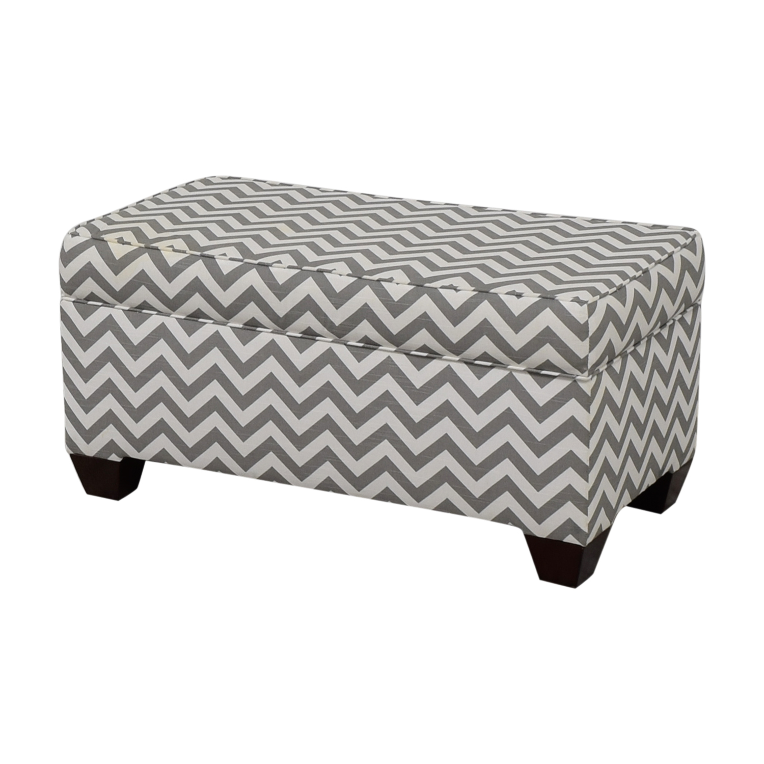 Target Target Grey and White Storage Bench or Ottoman nj