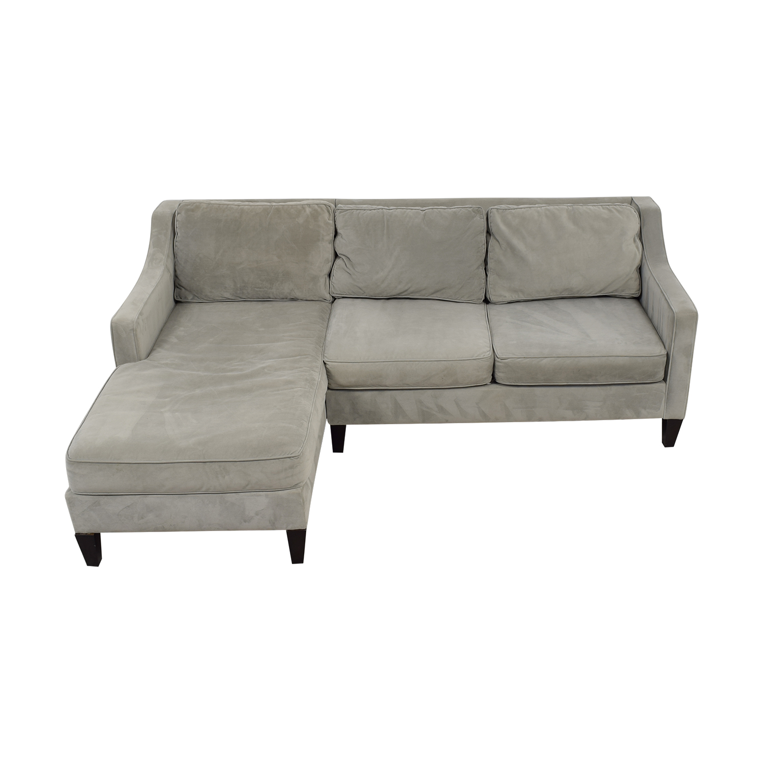 West Elm Paidge Grey Chaise Sectional sale