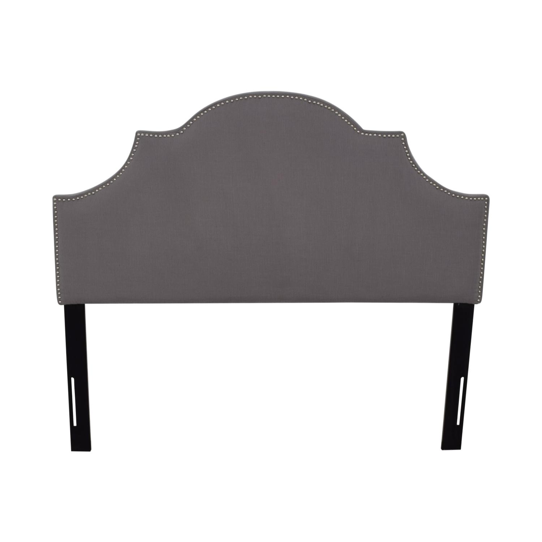 Safavieh Safavieh Grey Nailhead Arched Queen Headboard Beds