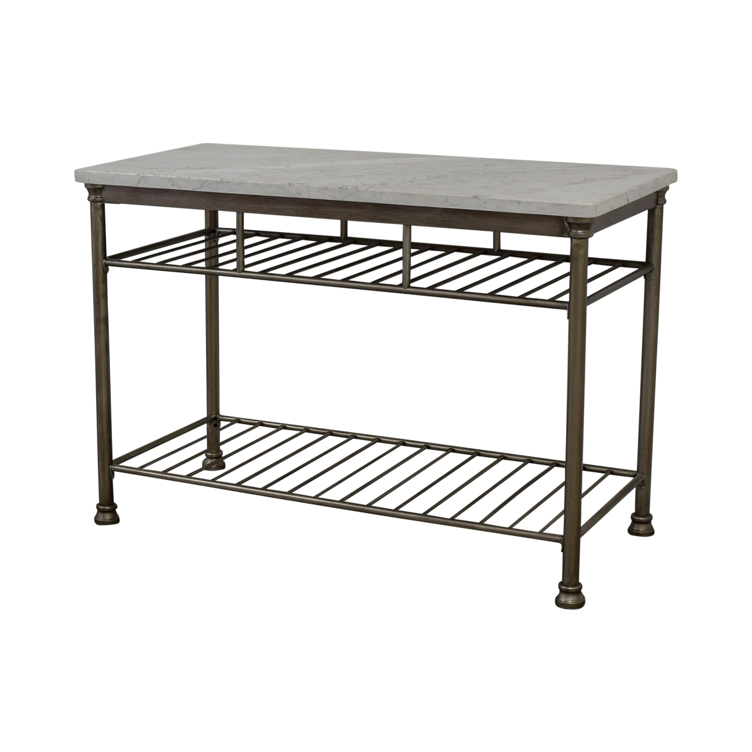 buy Marble Top and Brushed Stainless Steel Kitchen Island  Tables