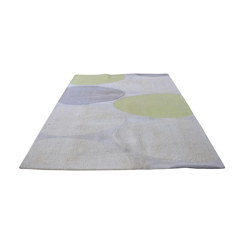 buy Dwell Studio White Beige Grey and Green  Rug Dwell Studio Decor