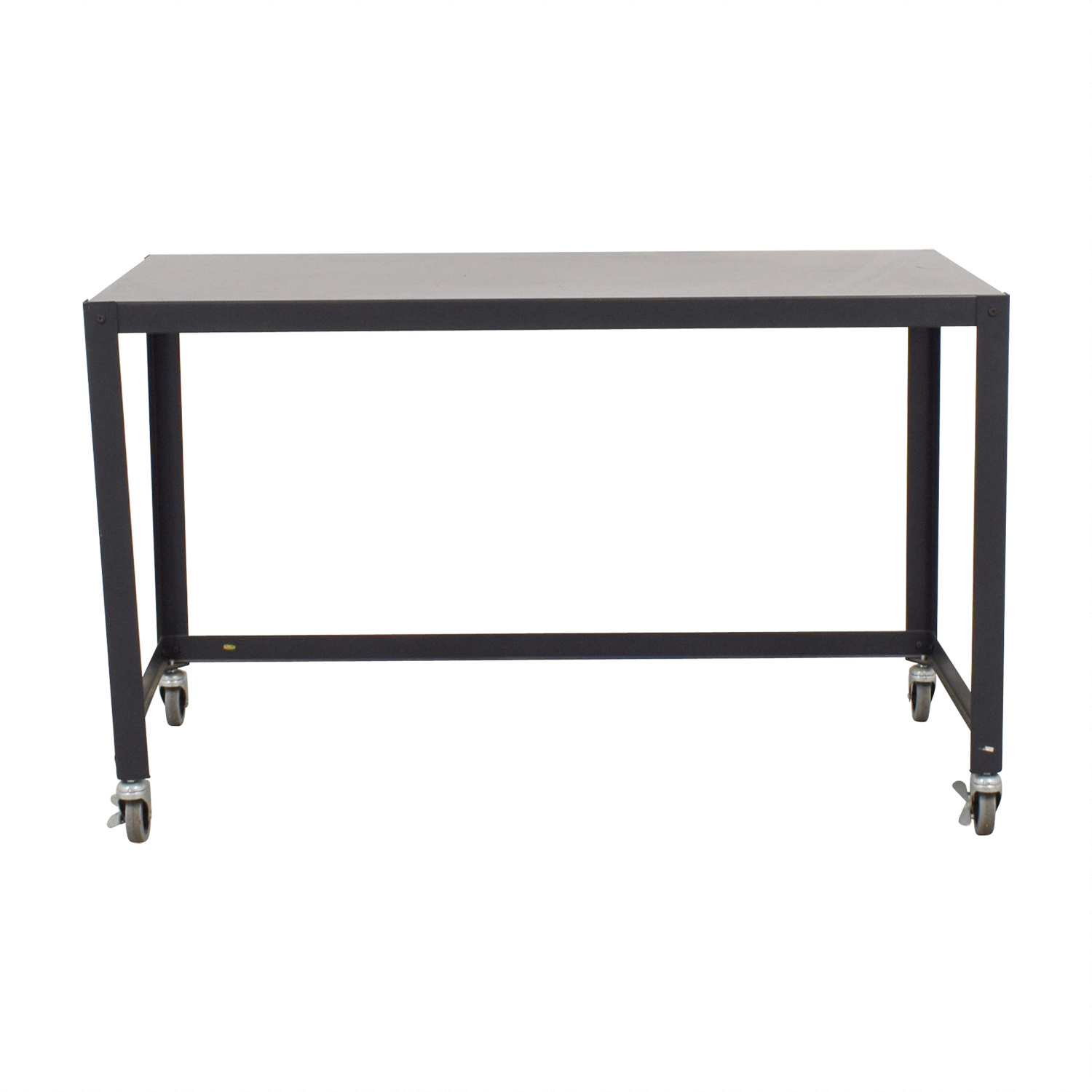 shop CB2 Carbon Go Cart Desk CB2 Tables