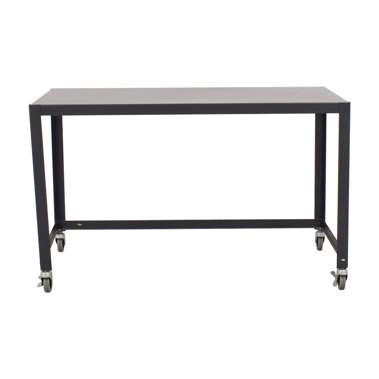 shop CB2 Carbon Go Cart Desk CB2 Tables