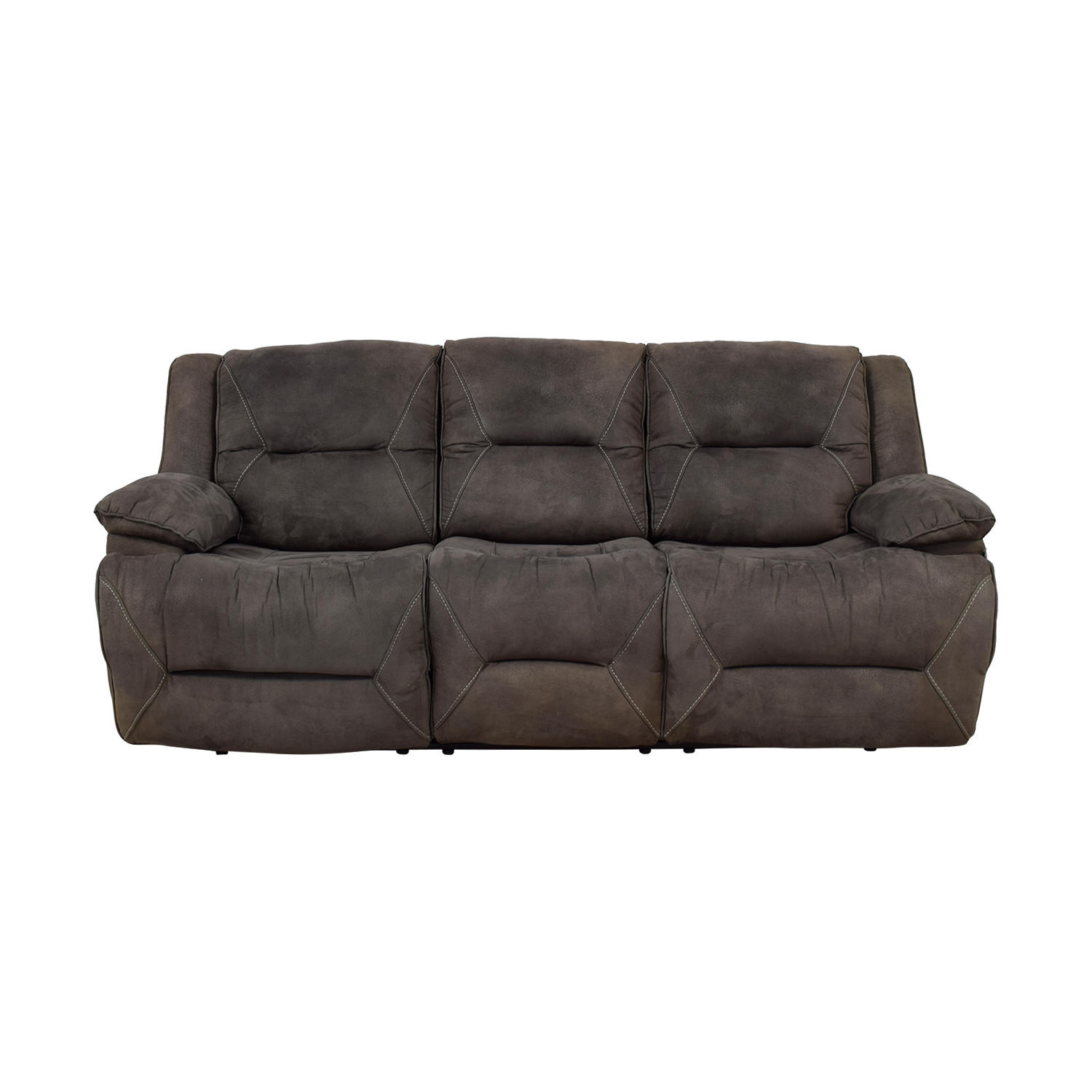 shop Raymour & Flanigan Grey Reclining Sofa Raymour & Flanigan Sofas