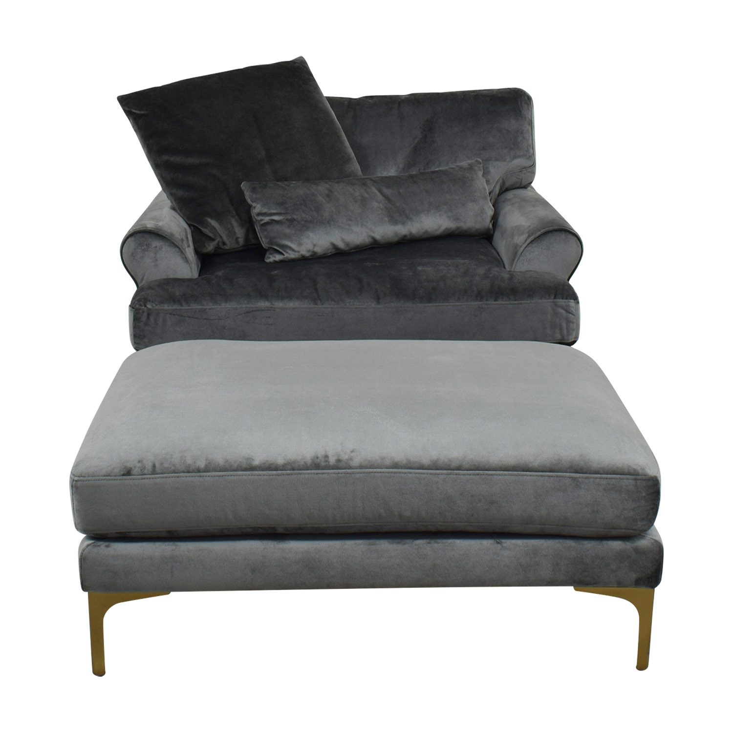 Maxwell Grey Accent Chair & OIttoman on sale