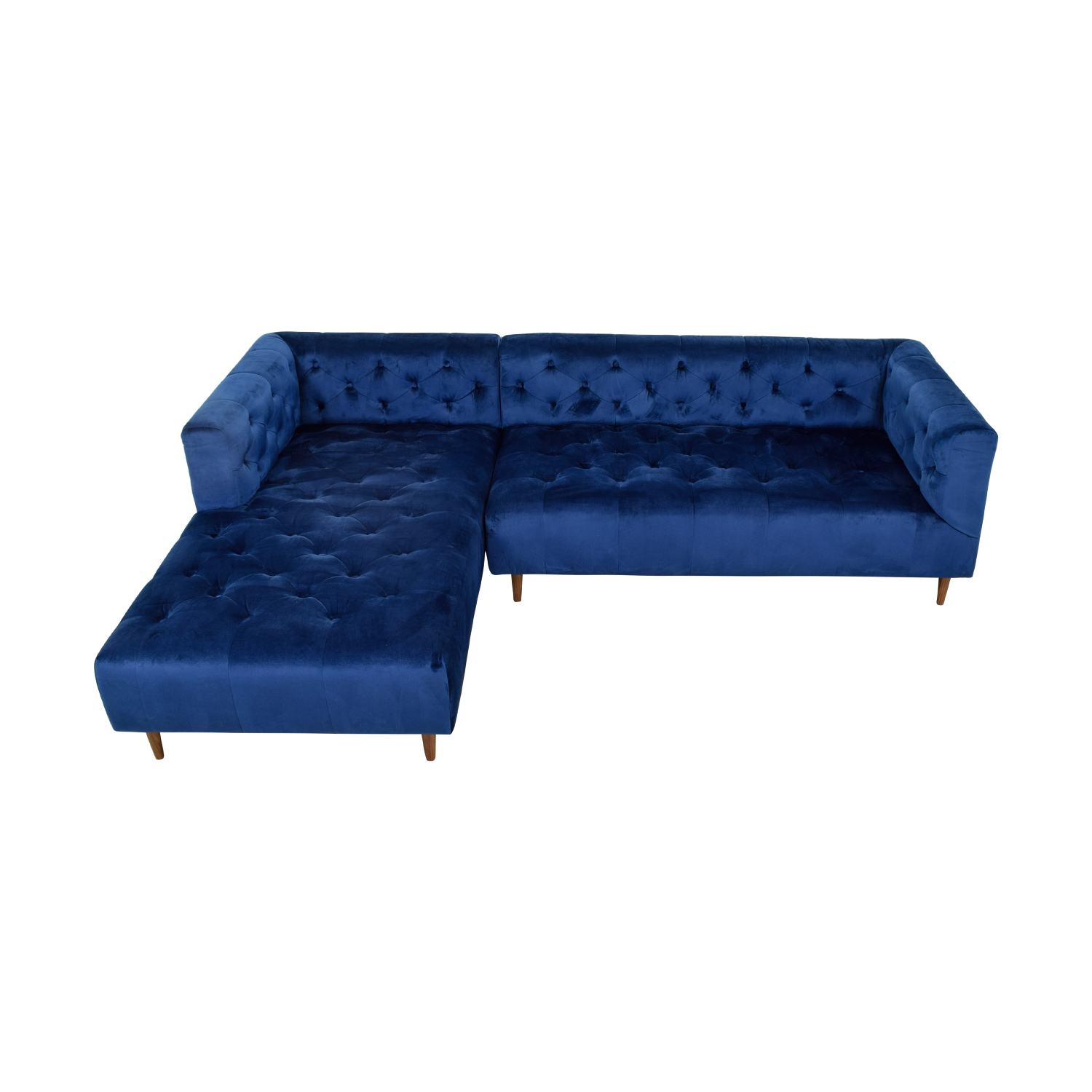 Ms. Chesterfield Blue Left Extended Chaise Sectional used