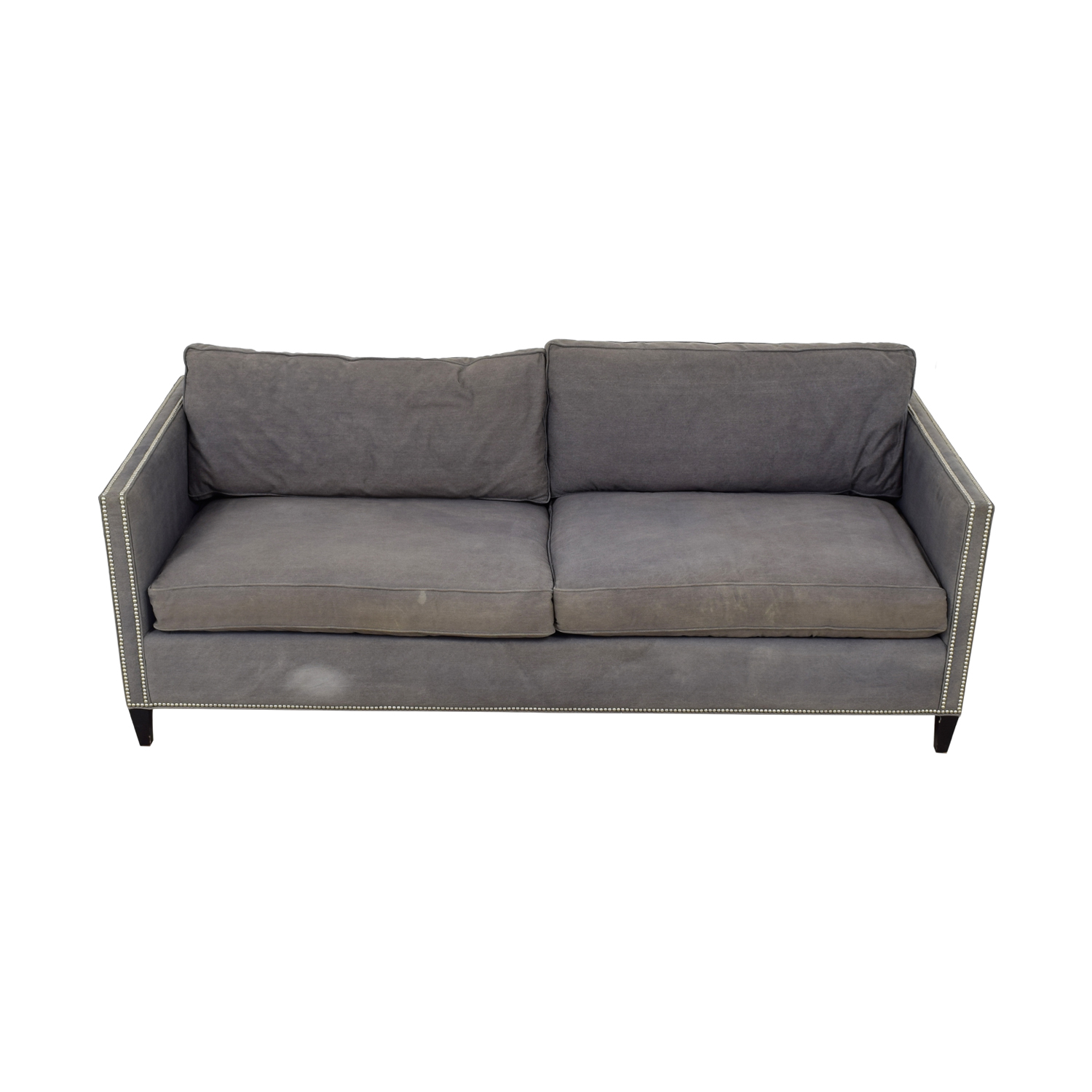 buy ABC Carpet & Home Cobble Hill Gray Nailhead Trim Sofa ABC Carpet & Home Sofas