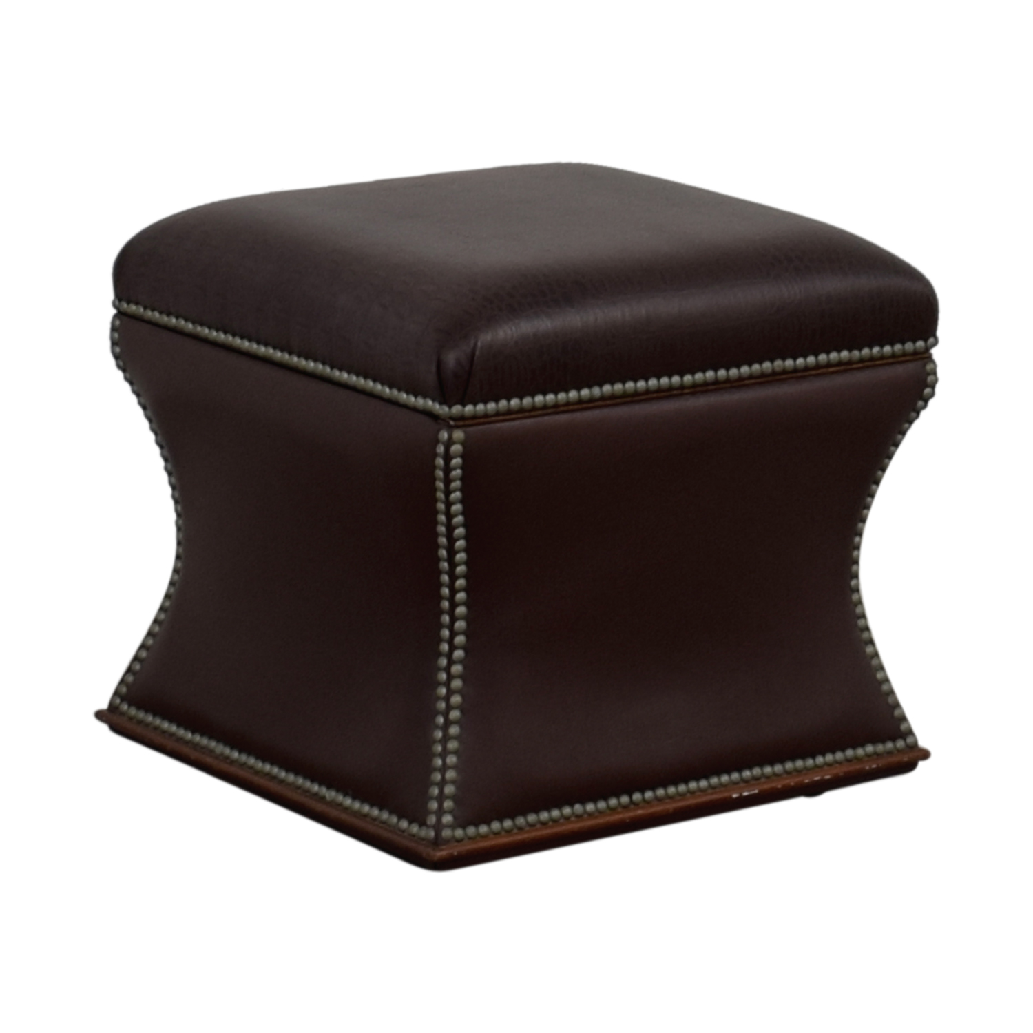 Miraculous 89 Off Ralph Lauren Home Ralph Lauren Nailhead Faux Crocodile Embossed Leather Storage Ottoman Chairs Ncnpc Chair Design For Home Ncnpcorg