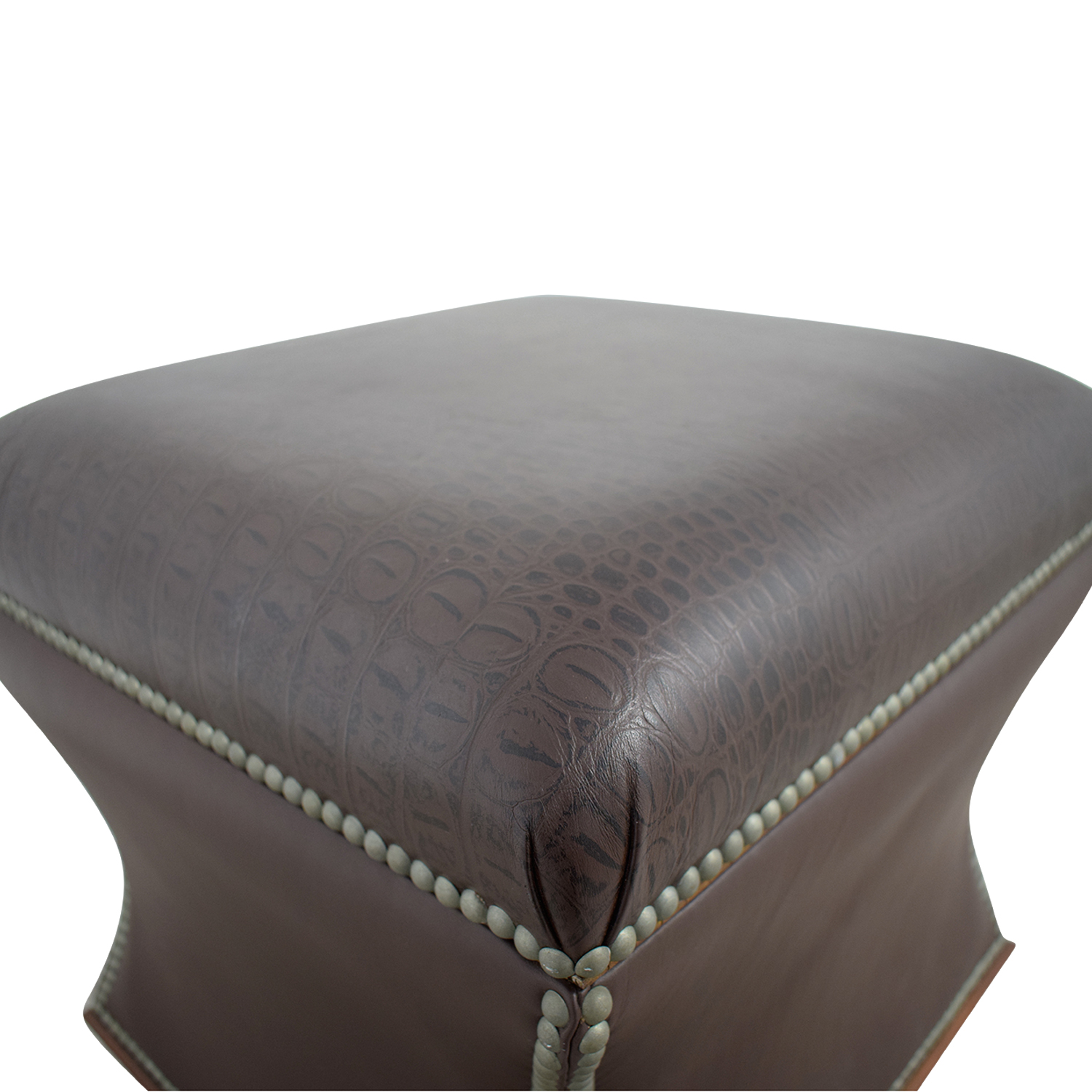 Fabulous 89 Off Ralph Lauren Home Ralph Lauren Nailhead Faux Crocodile Embossed Leather Storage Ottoman Chairs Ncnpc Chair Design For Home Ncnpcorg