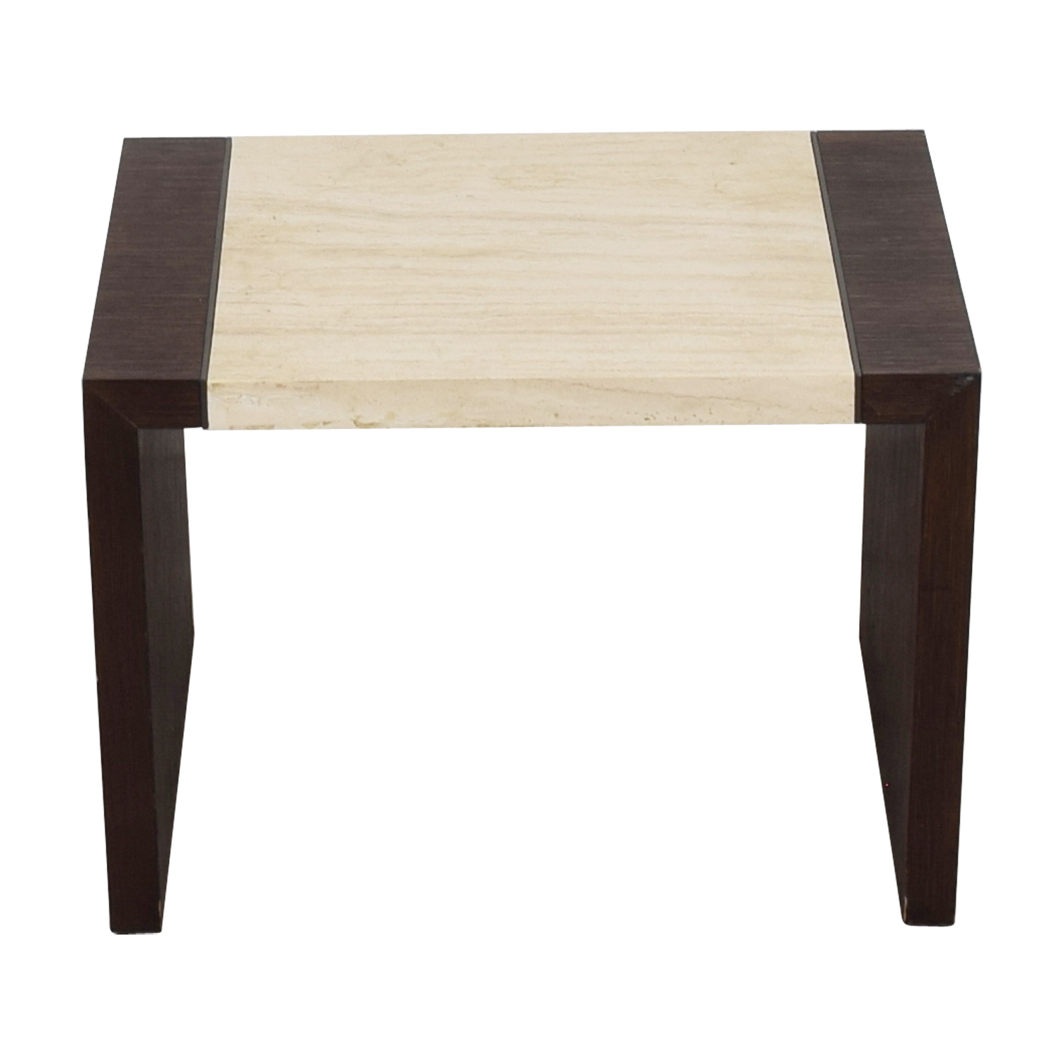 Calvin Klein Calvin Klein Wood and Stone End Table dimensions