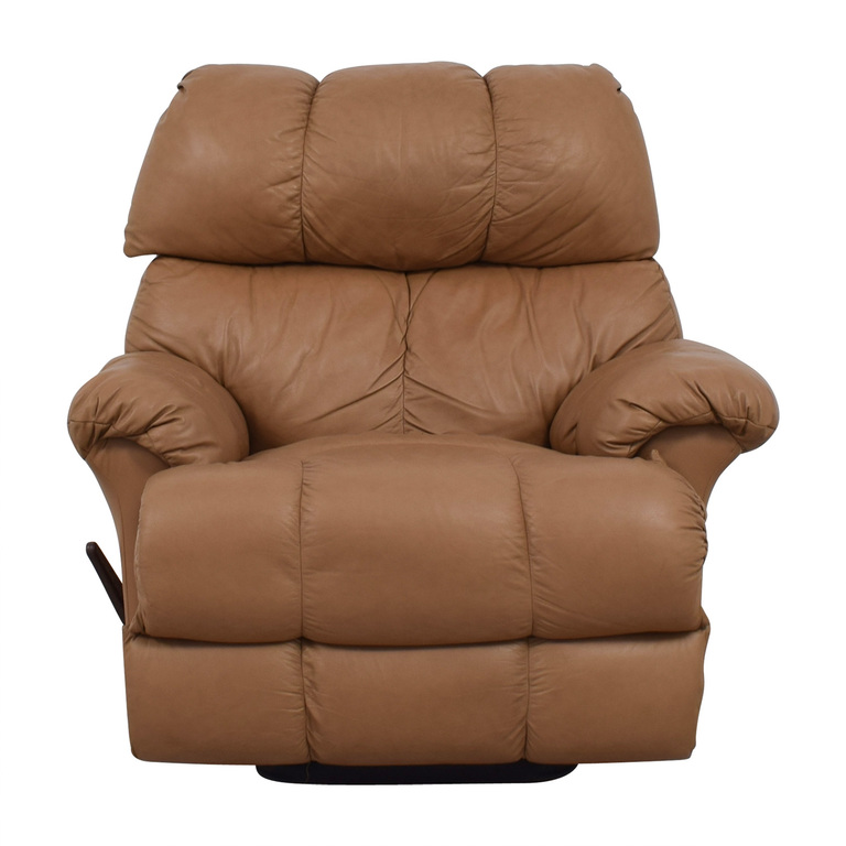 Tan Leather Reclining Chair dimensions