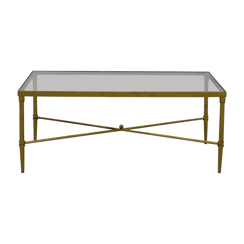 Fadden Fadden Rectangular Glass and Gold Coffee Table discount