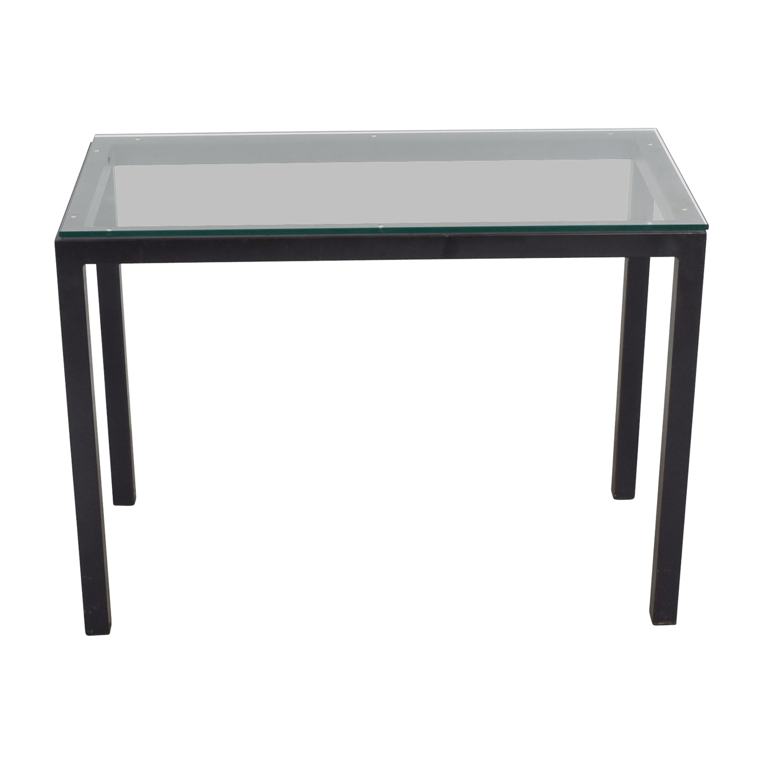 Room & Board Room & Board Parsons Glass and Black Table on sale