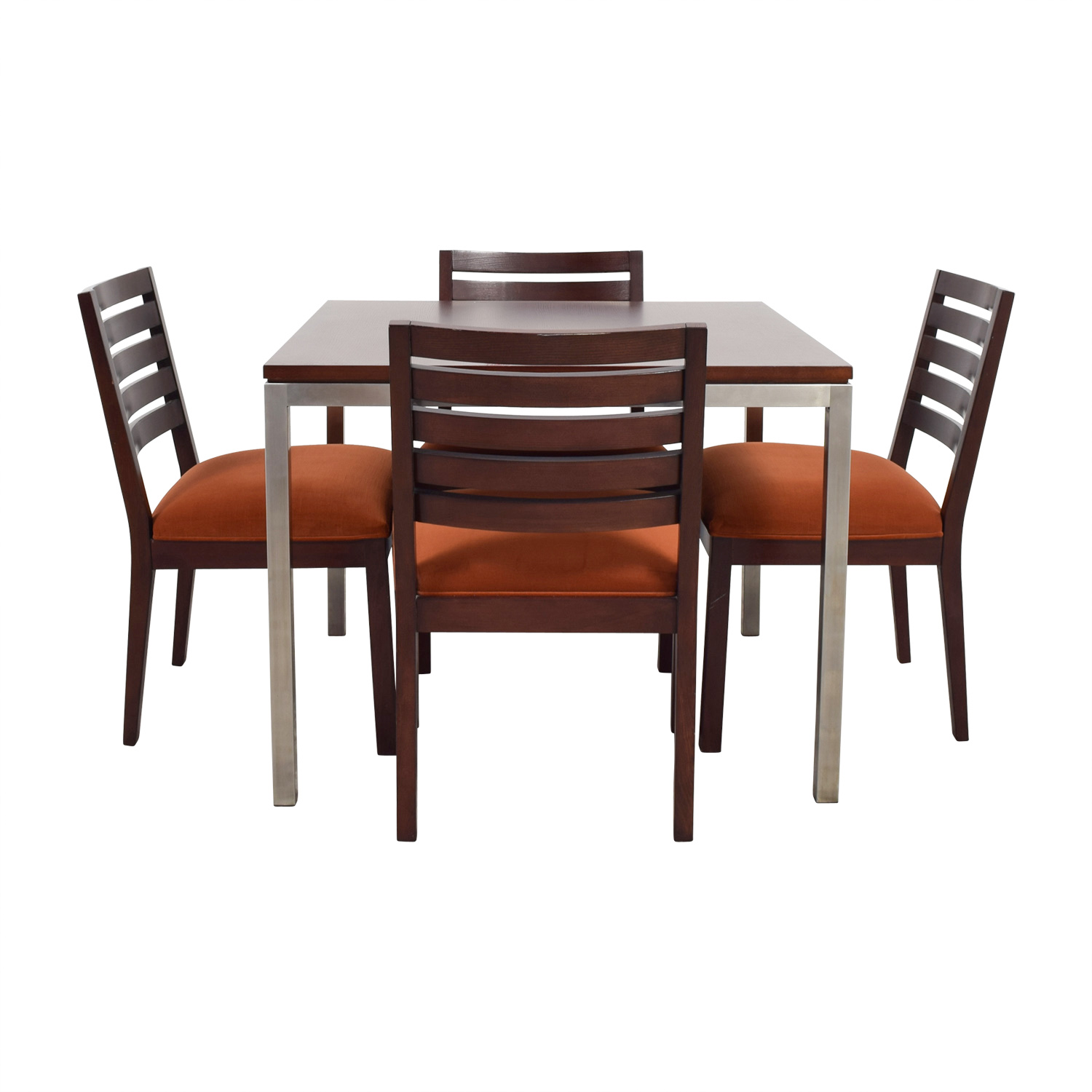 Ethan Allen Ethan Allen Wood and Chrome Dining Set nj