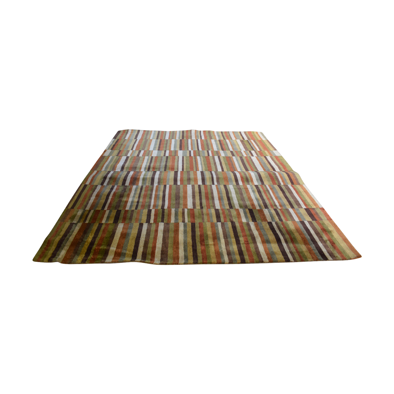 buy Ethan Allen Ethan Allen Multi-Colored Striped Rug online
