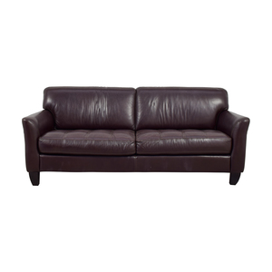 buy Macy's Signature Brown Leather Tufted Sofa Macy's