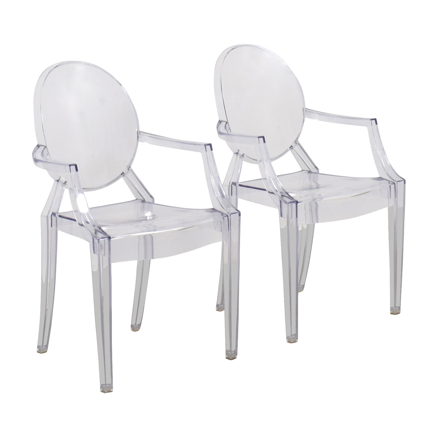 CB2 CB2 Acrylic Chairs for sale