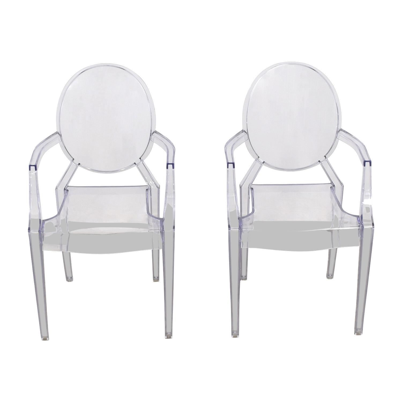 CB2 CB2 Acrylic Chairs dimensions