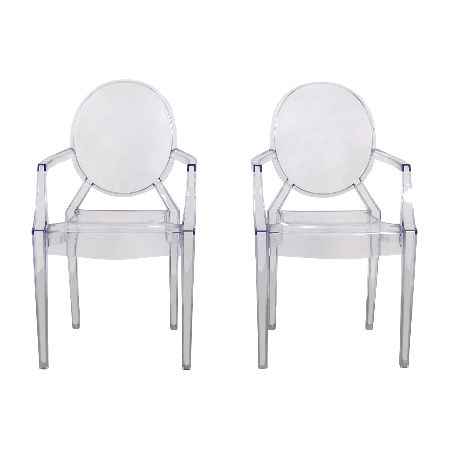 CB2 CB2 Acrylic Chairs Transparent