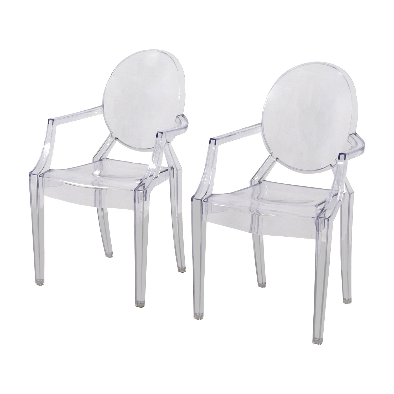 CB2 Acrylic Chairs sale