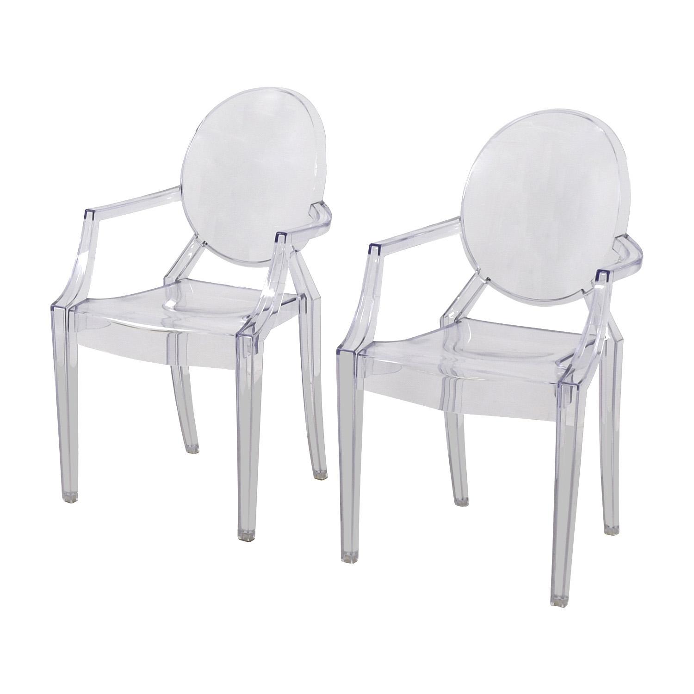 CB2 Acrylic Chairs sale
