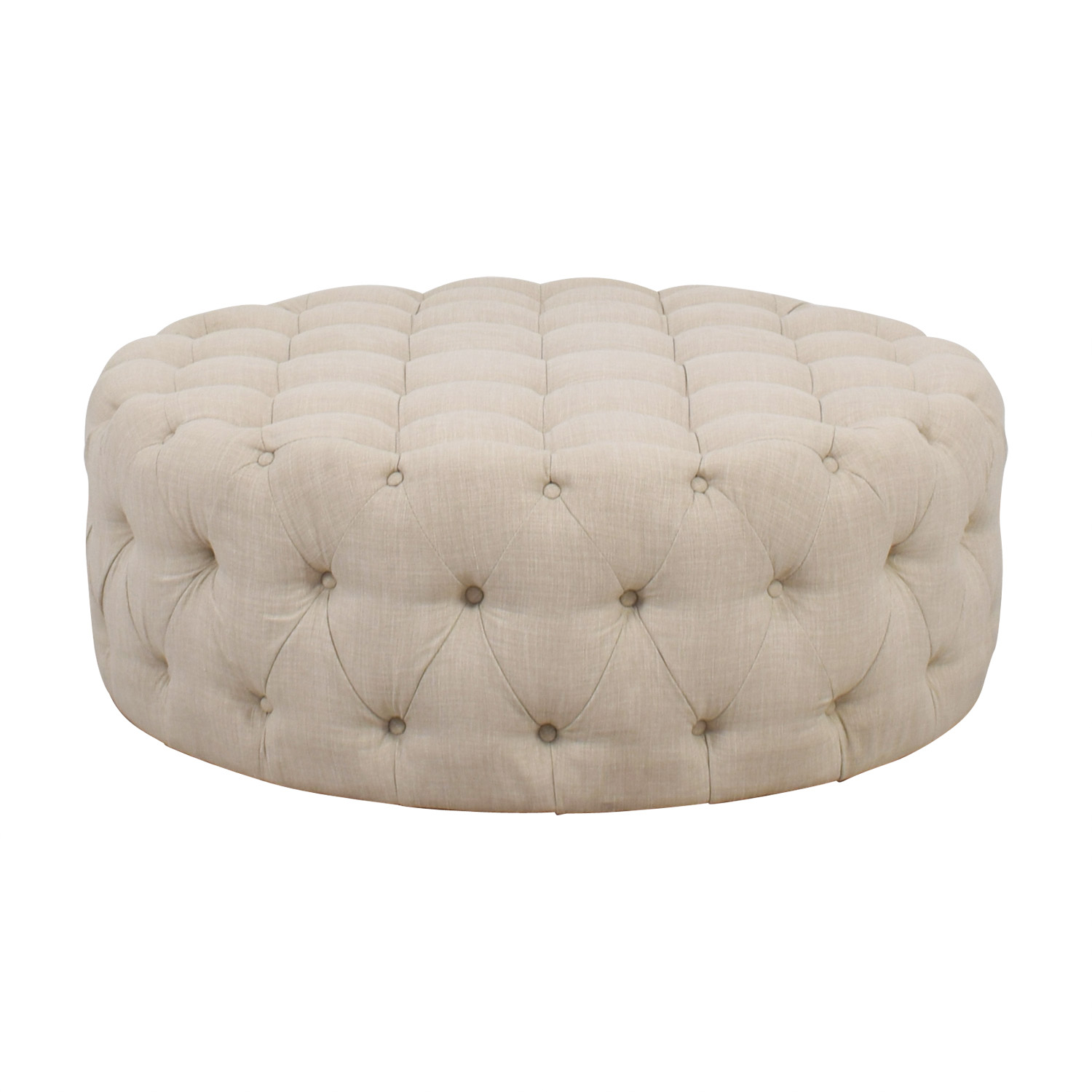 iNSPIRE Q Artisan iNSPIRE Q Artisan Knightsbridge Round Tufted Cocktail Ottoman for sale