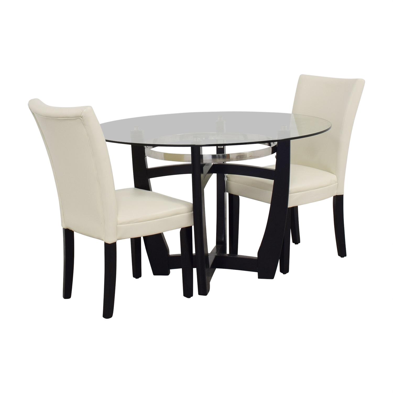 88 Off Bob S Furniture Bob Furniture Round Glass Table