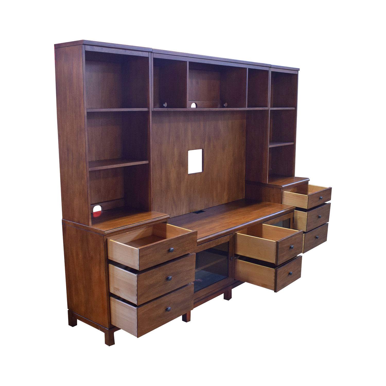 Ethan Allen Ethan Allen Wood Media Center with Drawers and Shelves Media Units