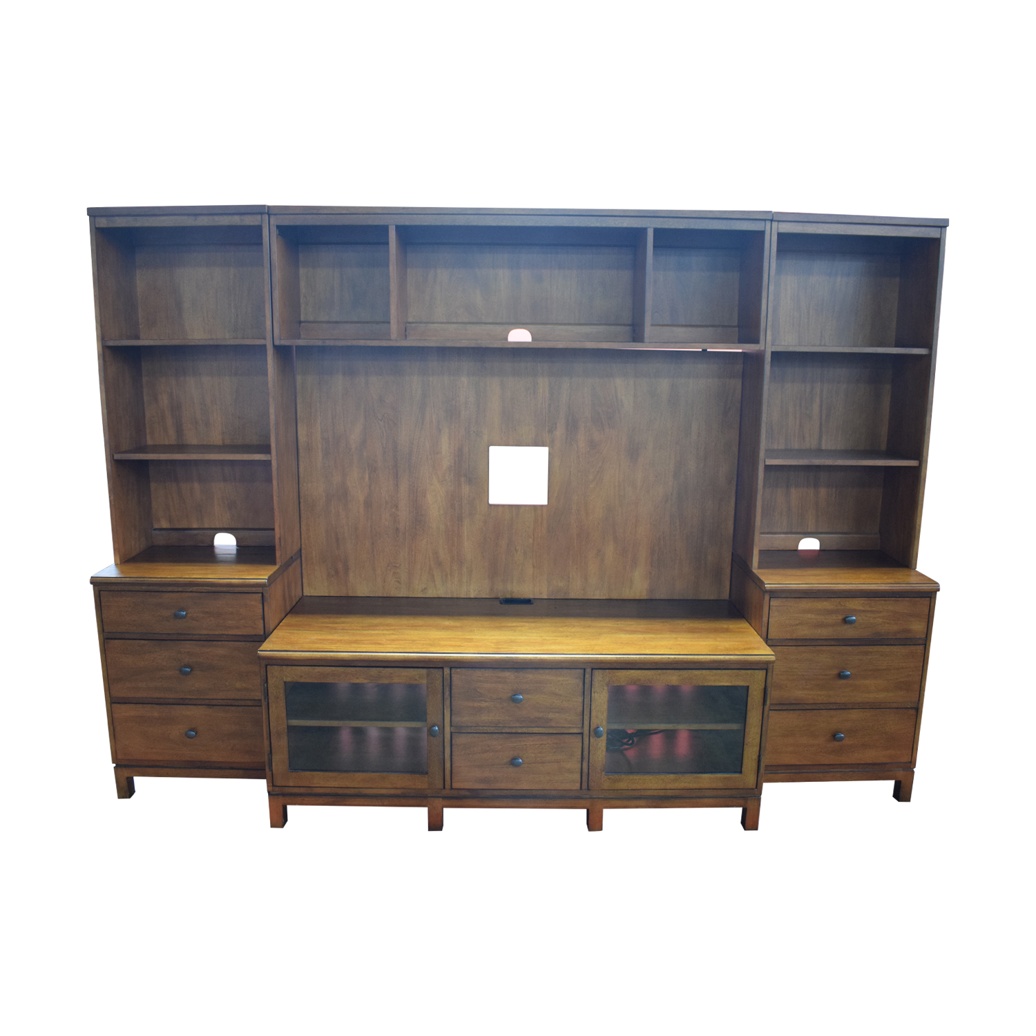 shop Ethan Allen Wood Media Center with Drawers and Shelves Ethan Allen