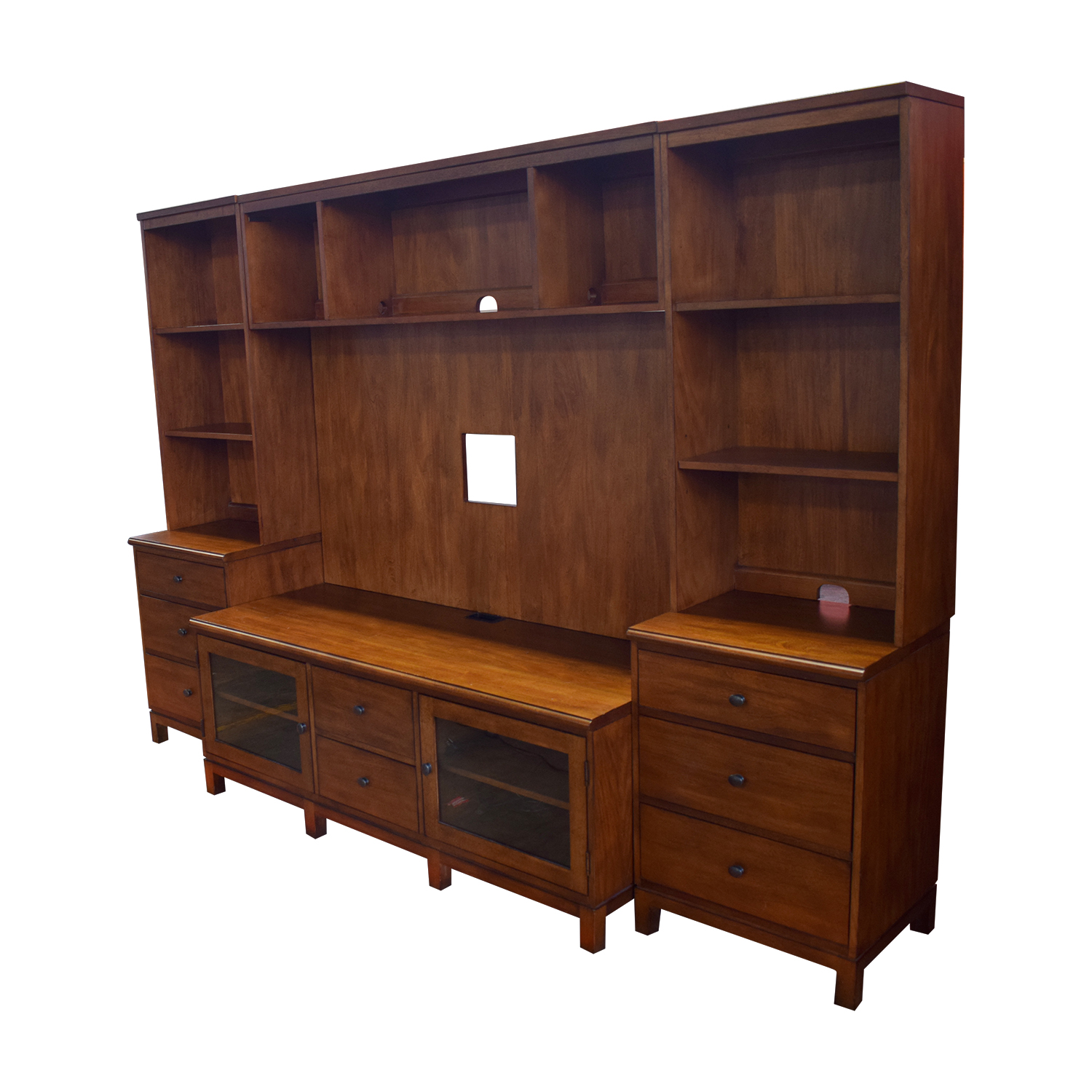 Ethan Allen Ethan Allen Wood Media Center with Drawers and Shelves
