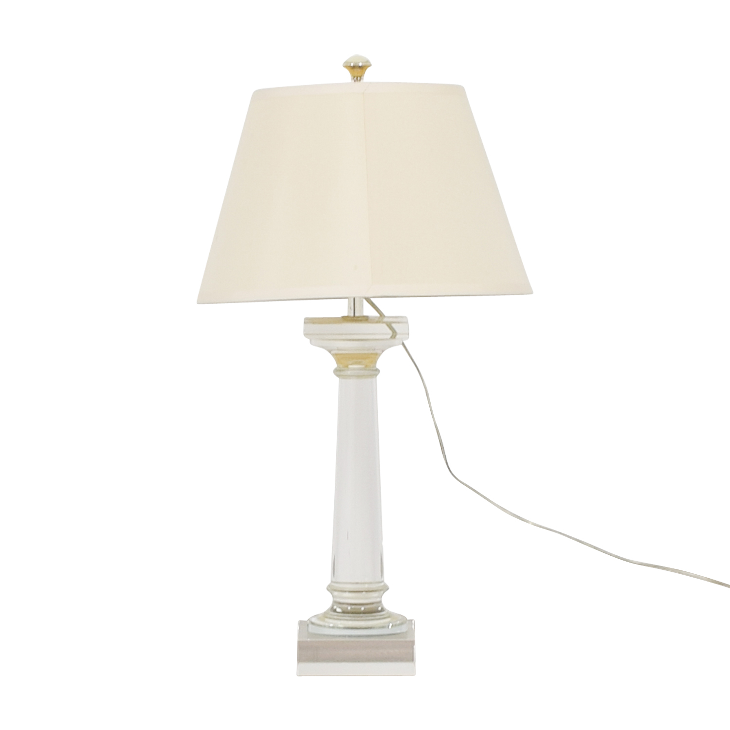 buy Restoration Hardware Restoration Hardware Crystal Cylinder Table Lamp online