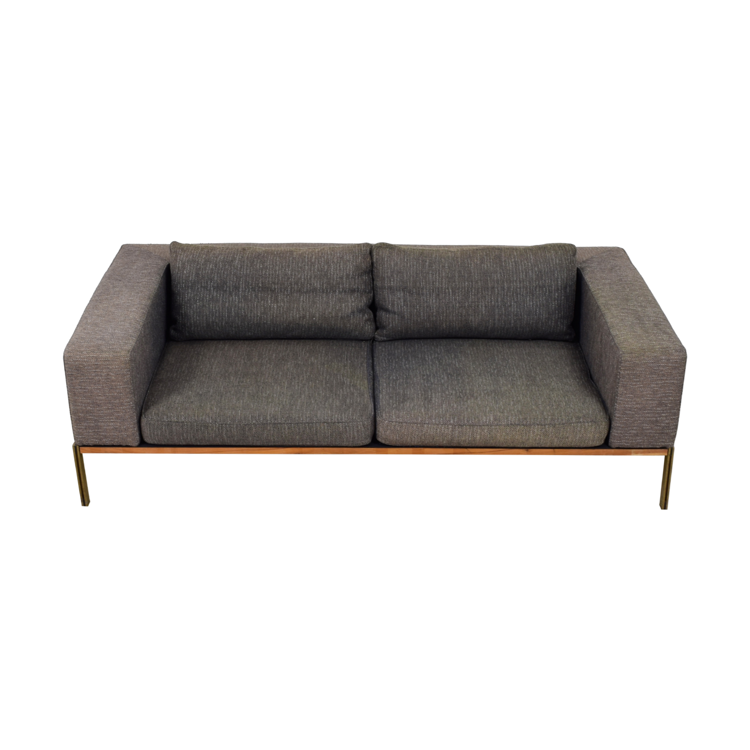Organic Modernism Grey Two-Cushion Sofa Organic Modernism