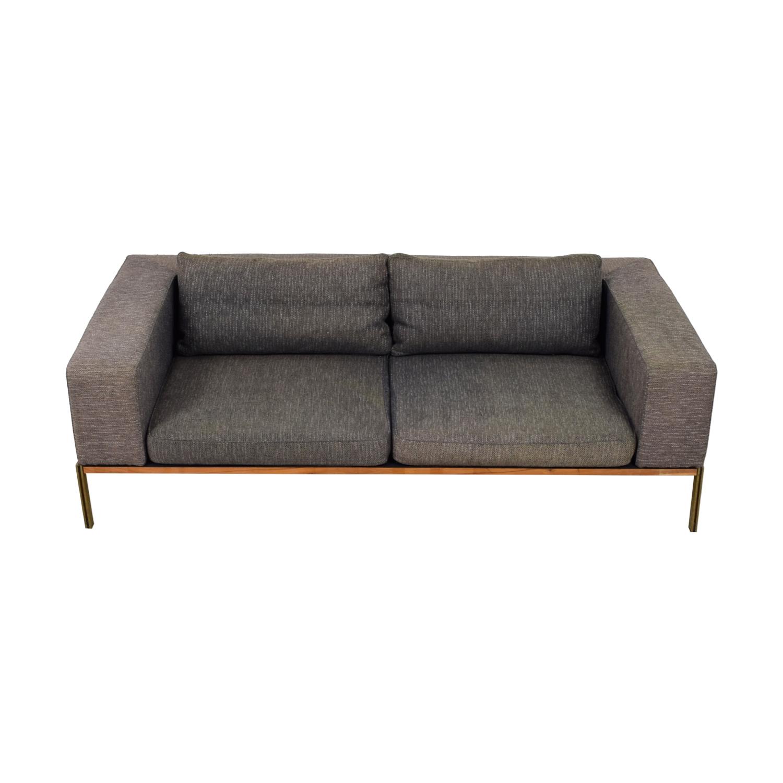 Organic Modernism Grey Two-Cushion Sofa Organic Modernism
