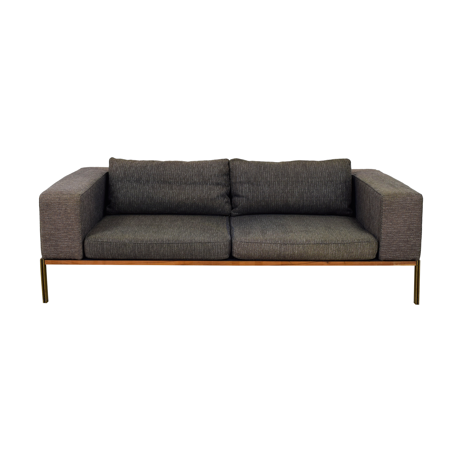 Organic Modernism Grey Two-Cushion Sofa / Classic Sofas