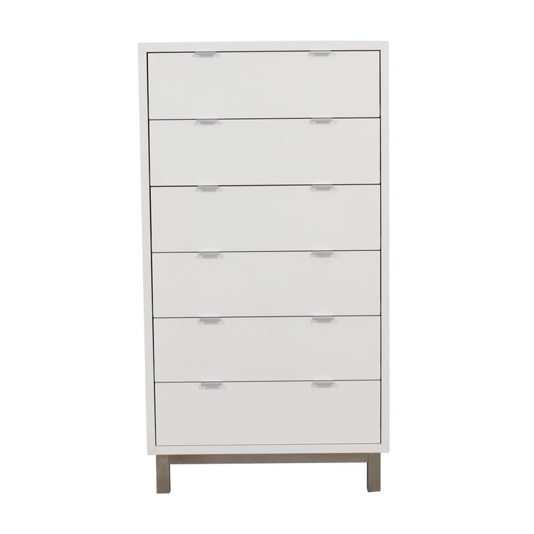 Room & Board Copenhagen White Six-Drawer Dresser sale