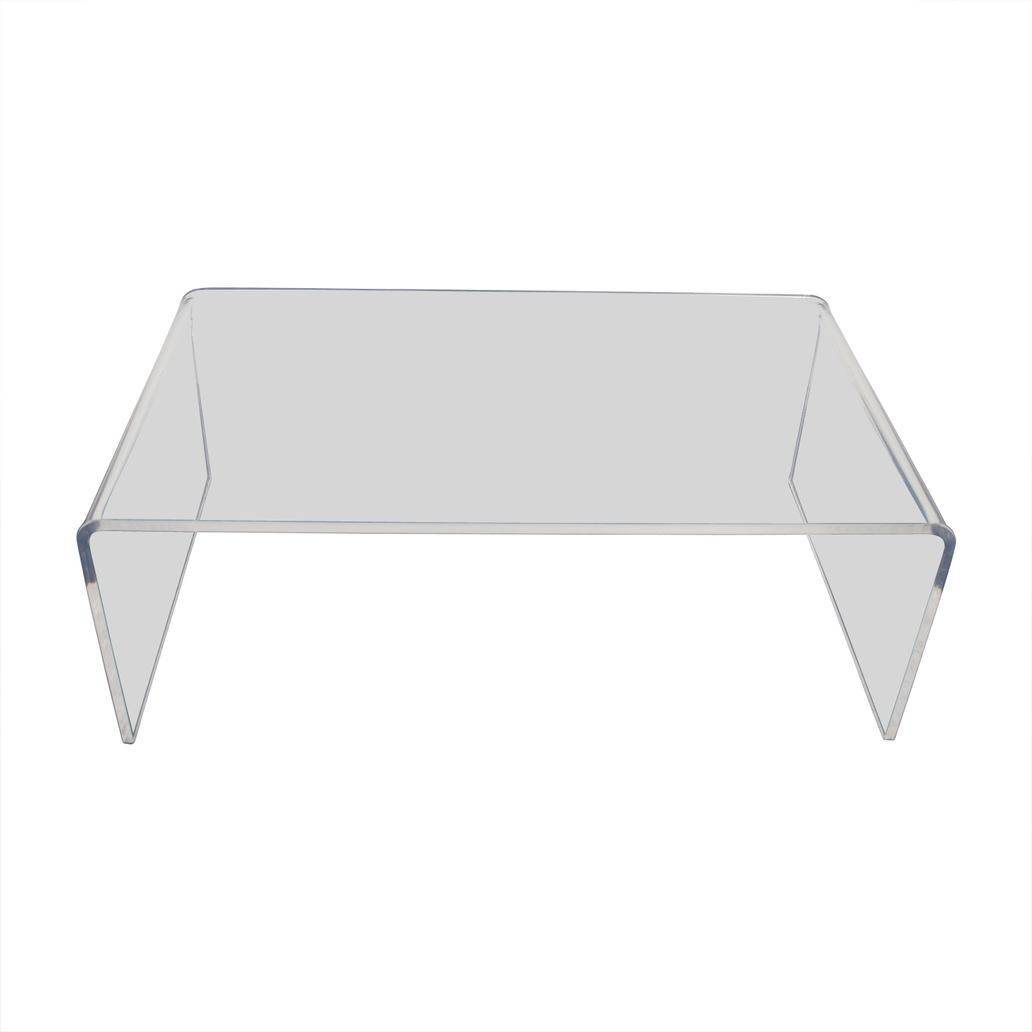 Fine 60 Off Cb2 Cb2 Peekaboo Acrylic Coffee Table Tables Unemploymentrelief Wooden Chair Designs For Living Room Unemploymentrelieforg